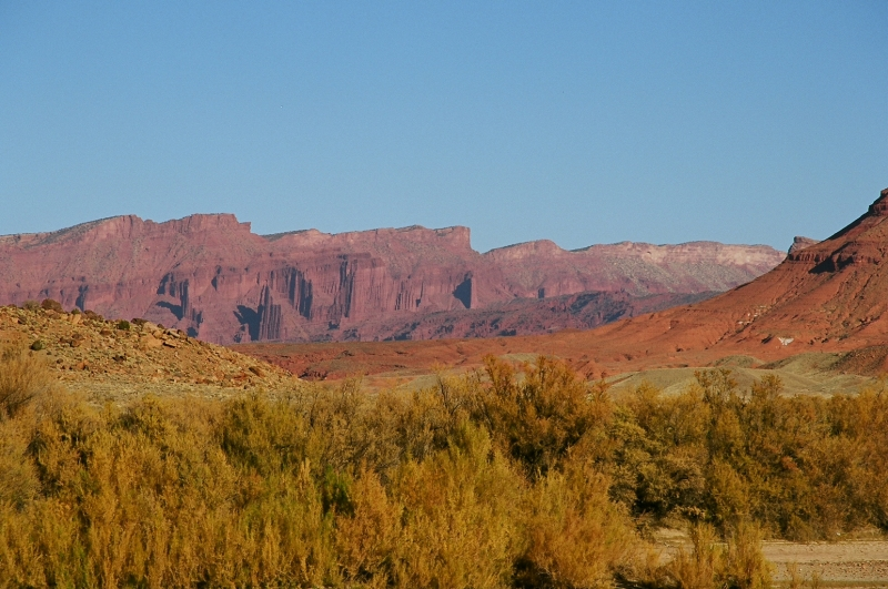 Fisher Towers In Fall