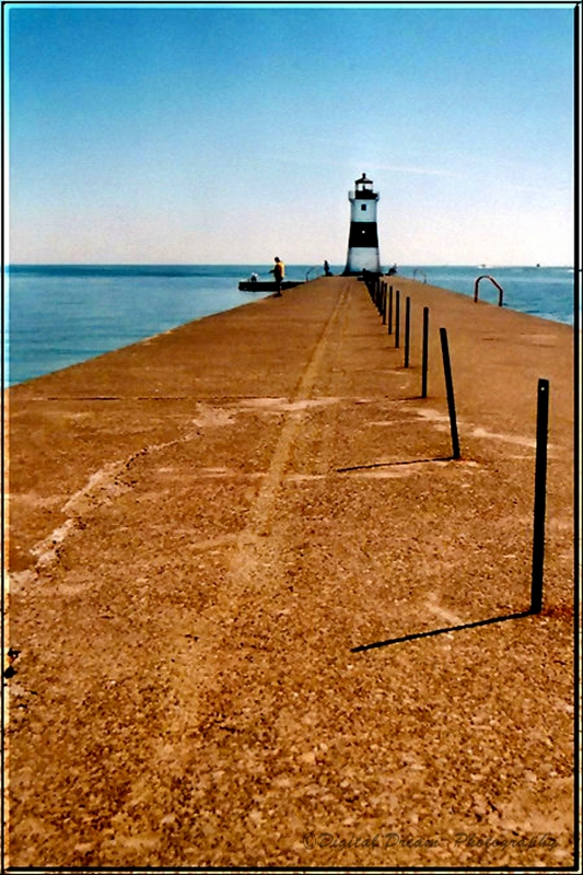 Erie Shore And Lighthouse