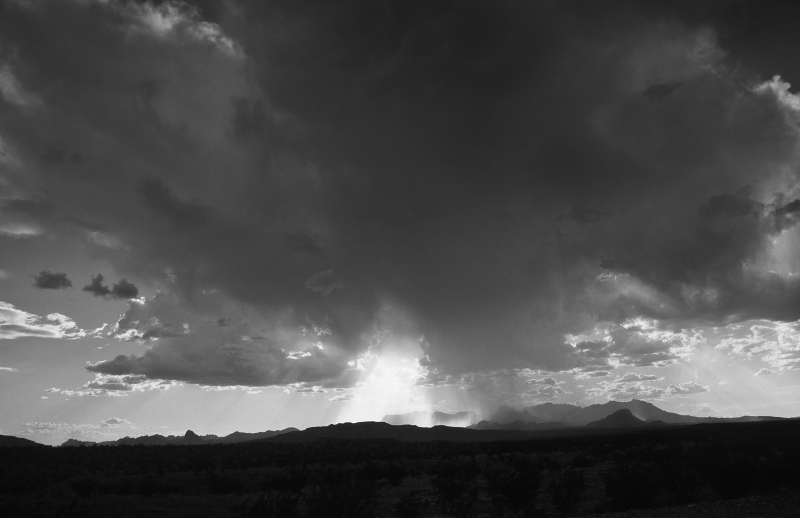 Storm Over Chisos Mountains, Big Bend