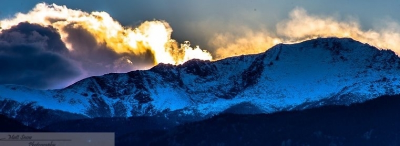 Alpenglow Mixed Sunset After First Dusting