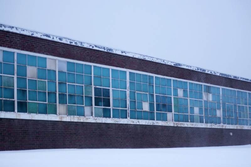 Abandoned Building During Winter Storm Juno