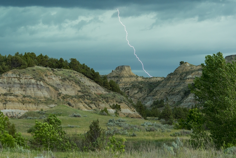 Theodore Roosevelt National Park Lightning Strike