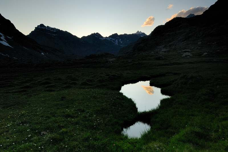Pool In The Dusk (valposchiavina, Valmalenco, Valtelline)
