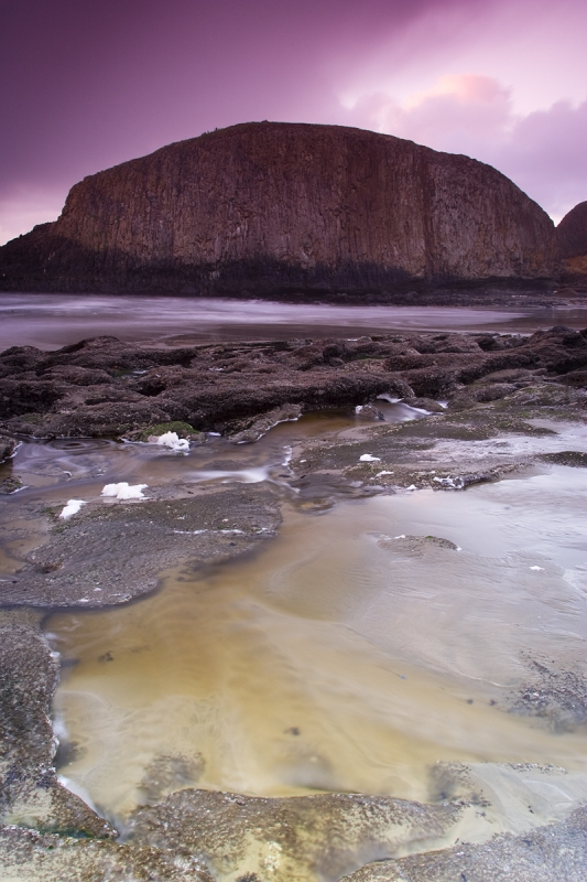Seal Rock At Twilight, Oregon.