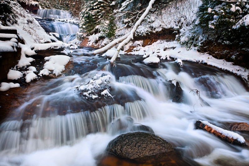 Sable Falls In Winter