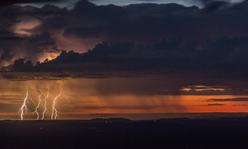 Lightning Storm At Dawn