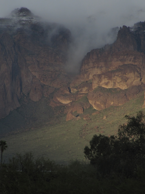 Winter Storm Superstition Mountains Arizona