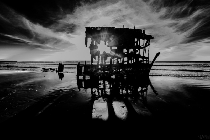 Peter Iredale@ Sunset