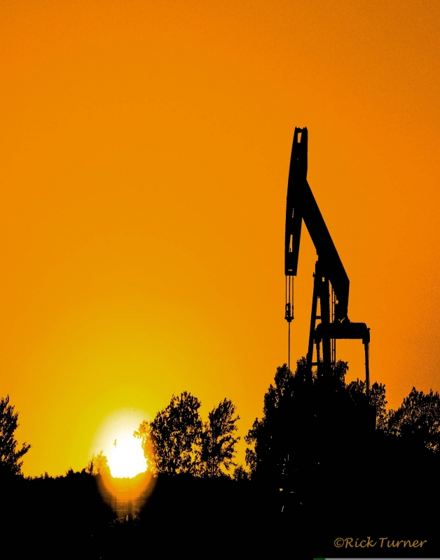 Oil Country Sunset