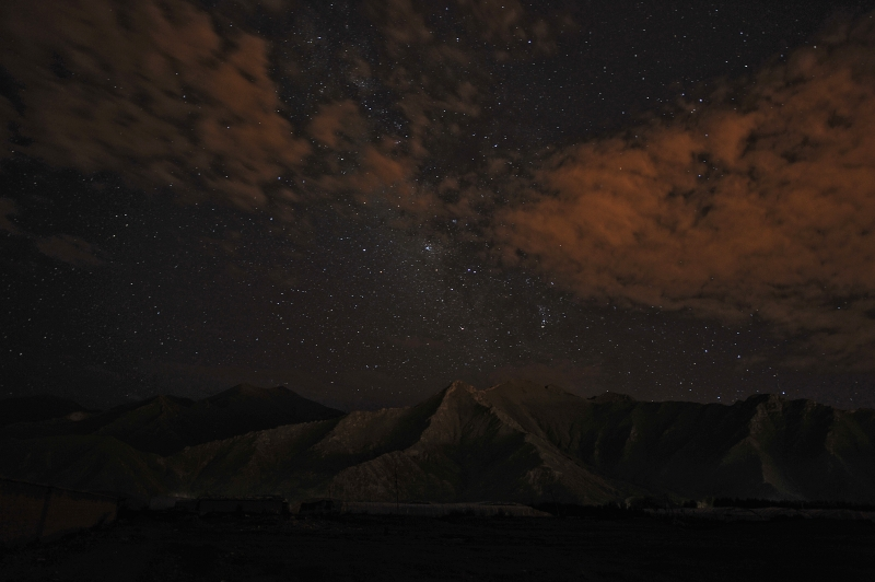 Nighttime In Tibet
