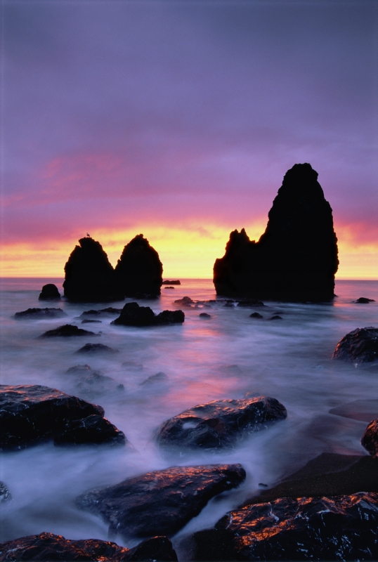 Rodeo Beach Rocks At Sunset