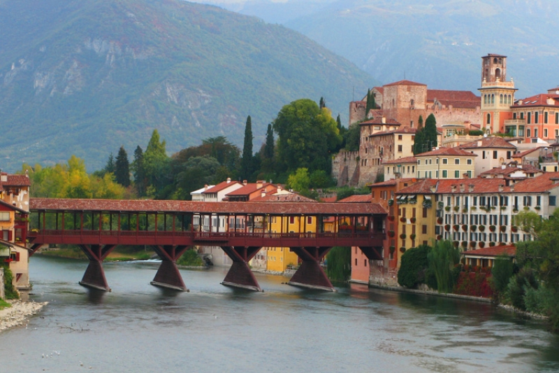 View Of Bassano And Ponte Vecchio