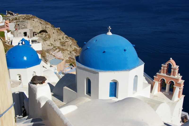 Blue Church Of  Oia (ia)