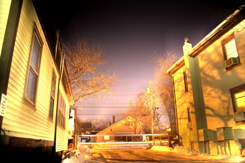 Hdr Of Side Streets In Burlington, Vt