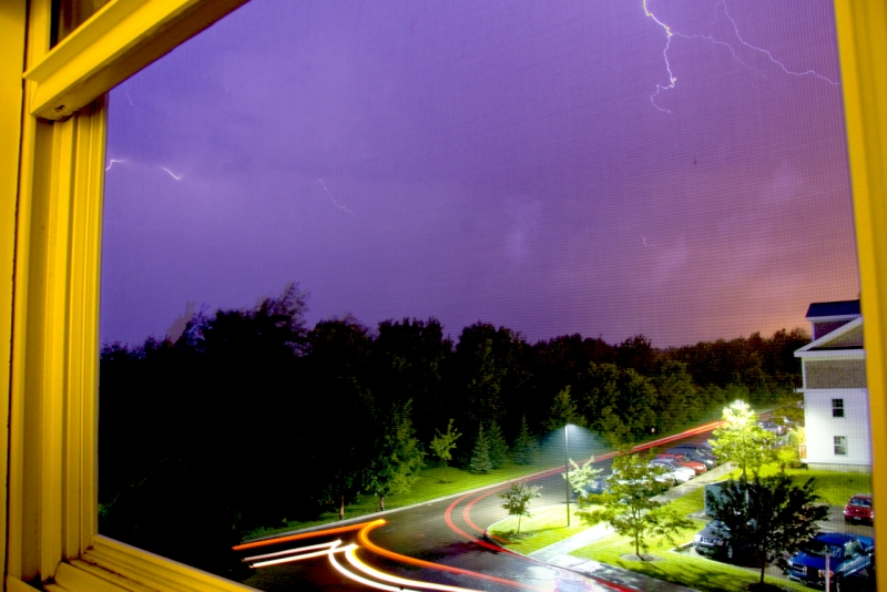Hdr Or Lightning Out My Bedroom Window