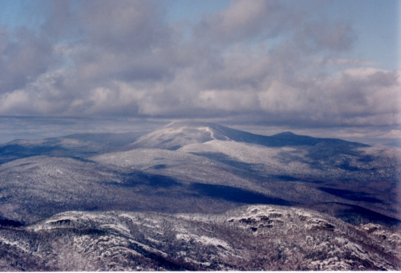 View From Cascade Mountain In Winter