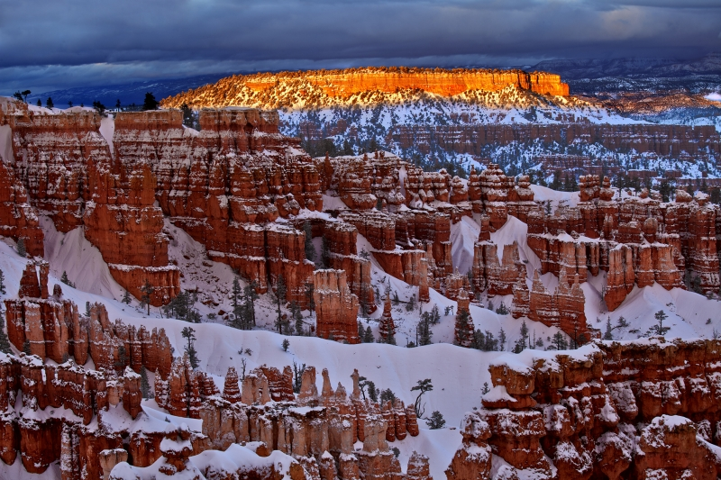 Hoodoos At Sunset