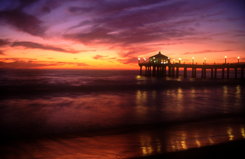 Manhattan Beach Pier At Sunset 2