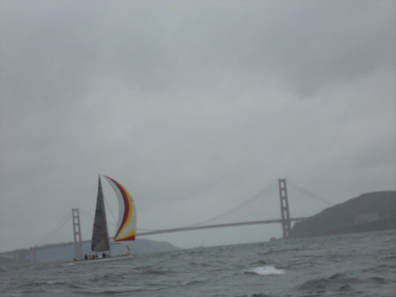 Stormy Sailing Near The Golden Gate