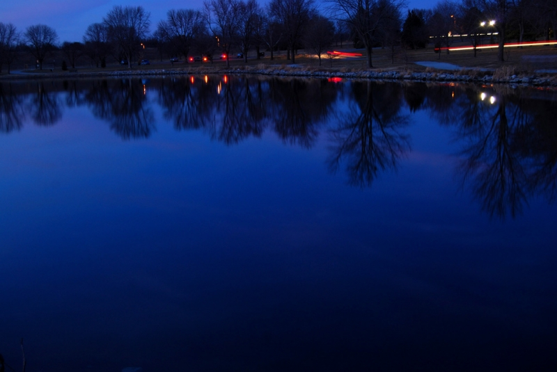 Reflective Blue Hour