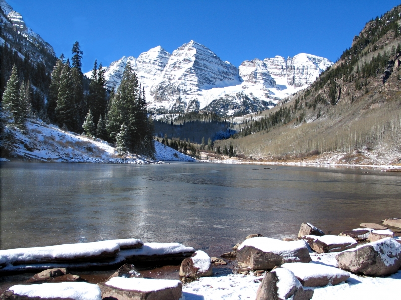 Maroon Bells, First Snow