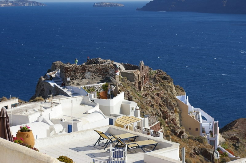 View From Oia To The Caldera