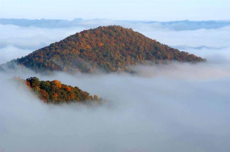 Foothills Parkway Fog Covering Mtn.