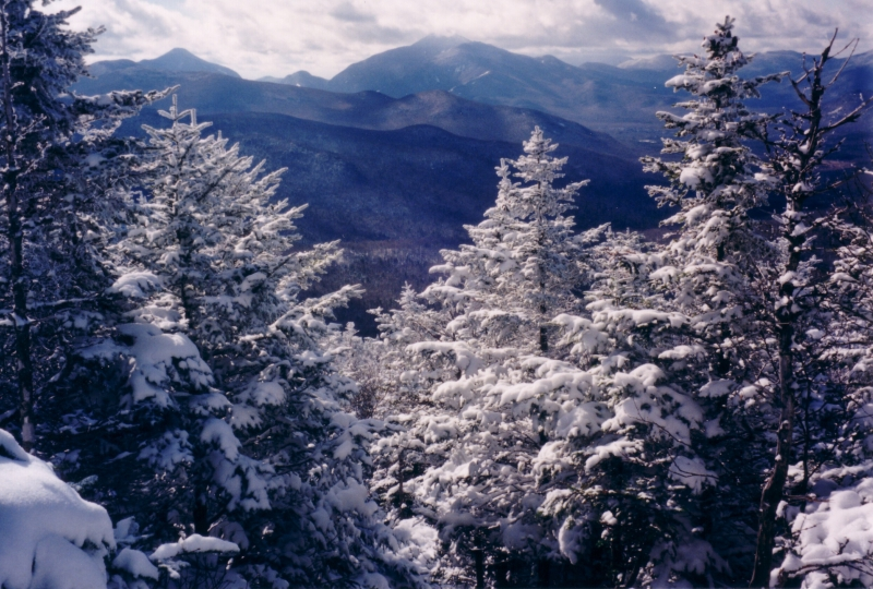 View From Cascade Mountain In Winter 2
