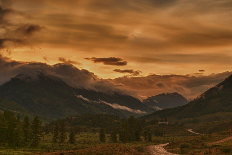 Sunset At Crested Butte