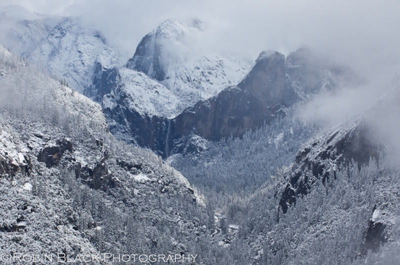 Bridalveil And Merced River Canyon, Winter