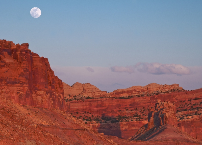 Moonrise At Capitol Reef