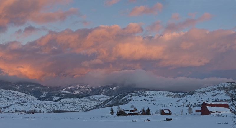 Elk Mountain Meadow Sunset