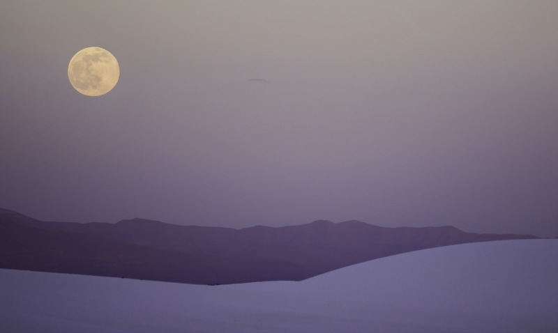 White Sands National Monument + Full Moon