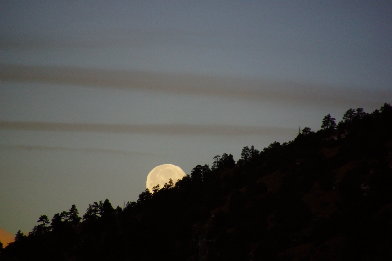 Moon Going Down In Early Morning