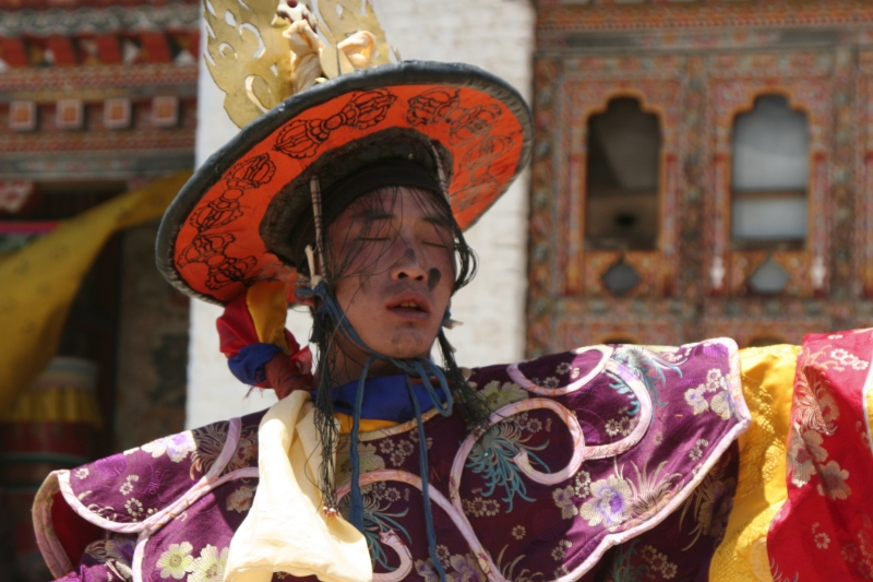 Bhutan Dancer Entranced