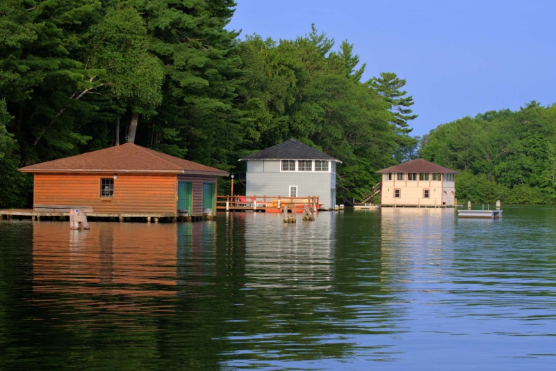 Boathouses On Lake Minocqua