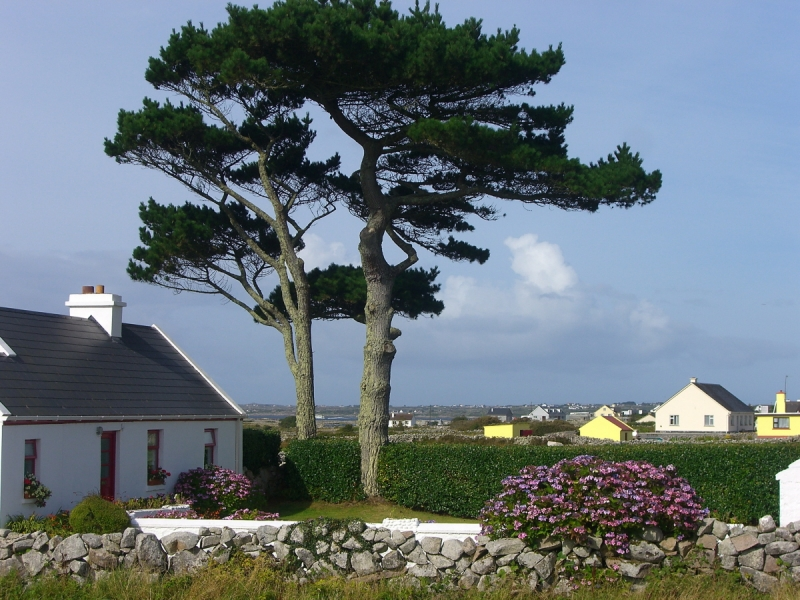 Little Village Near Galway Bay, Ireland