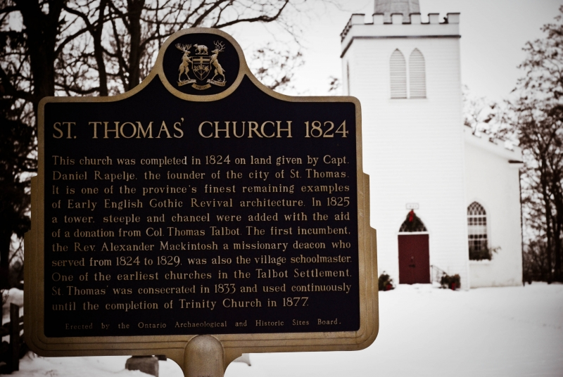 Oldest Church In St. Thomas Ont.