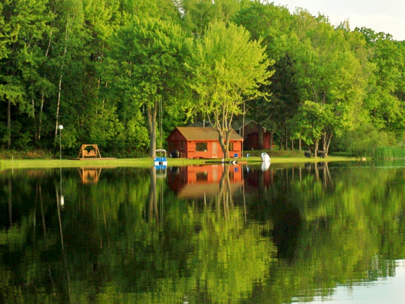 Cabin On Goose Lake