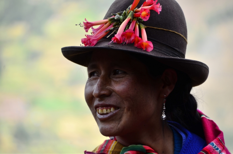 Happy Peruvian Lady