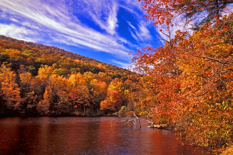 Bear Mountain At Autumn