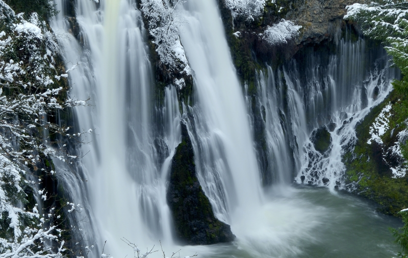 An Intimate View Of Burney Falls
