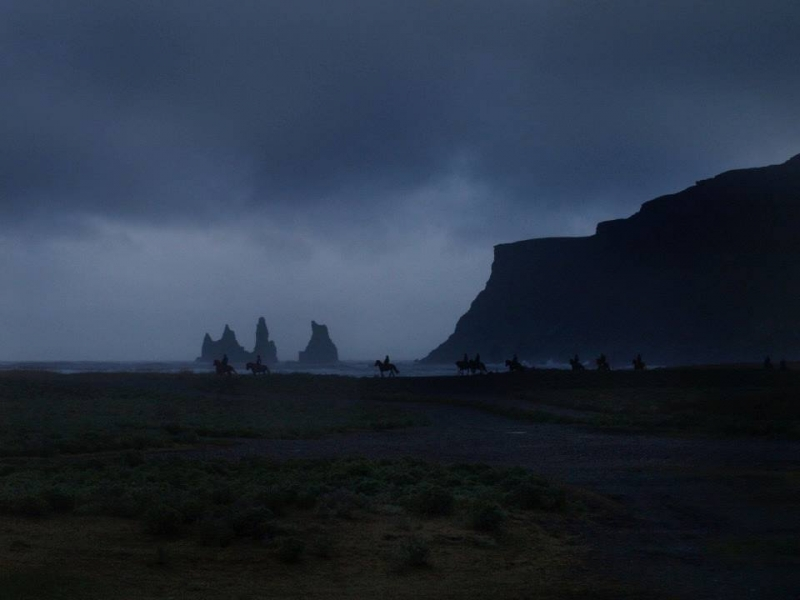 Sunset On The Beaches Of Iceland