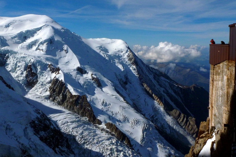 Glacial View In The French Alps