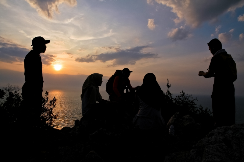 Sunset At Bukit Batu Putih Pot Dickon