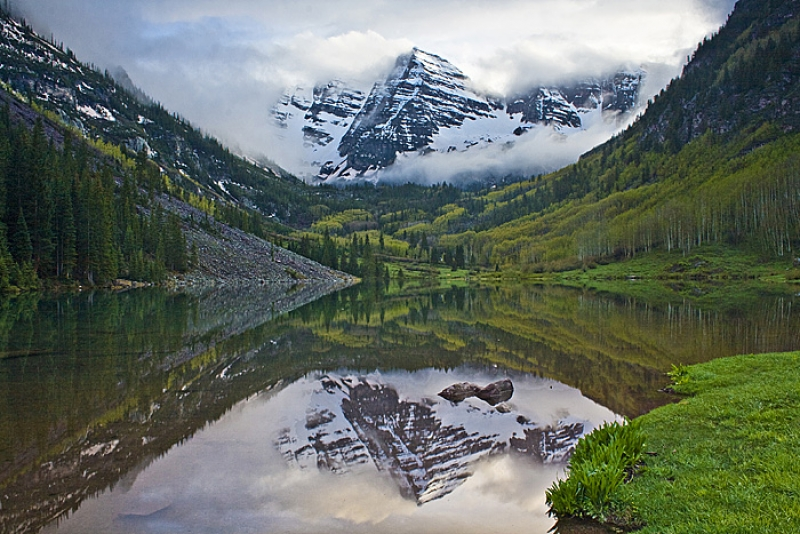 The Maroon Bells Stormy Sunset
