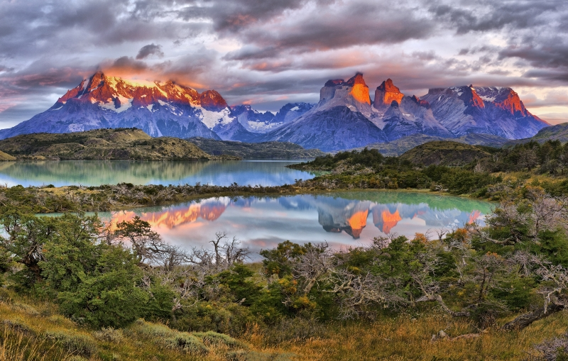 Sunrise On The Torres Massif  – Torres Del Paine Np, Chilean Patagonia