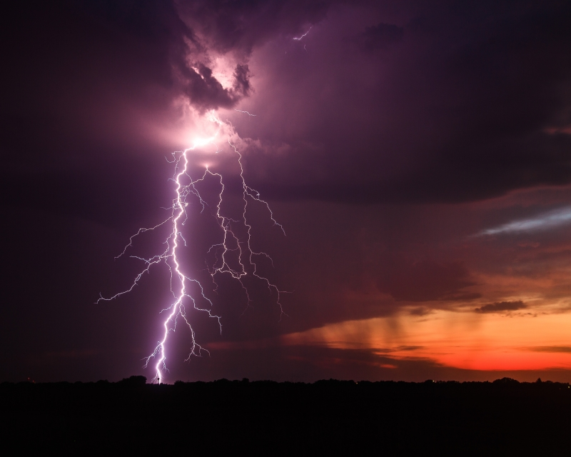 Sunset Lightning