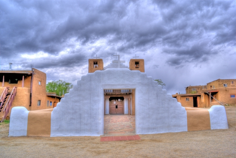 Taos Pueblo Church Front View