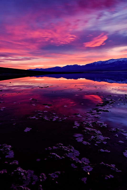 Sunset, Badwater, Death Valley National Park